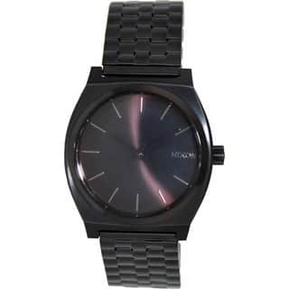 Nixon Men's Time Teller A045001 Black Stainless-Steel Quartz Watch with Black Dial|https://ak1.ostkcdn.com/images/products/8611922/P15879433.jpg?impolicy=medium