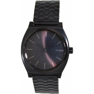 Nixon Men's Time Teller A045001 Black Stainless-Steel Quartz Watch with Black Dial