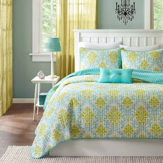 Mi-Zone Paige Teal and Yellow 3-piece Quilt Set|https://ak1.ostkcdn.com/images/products/8611932/Mizone-Paige-3-piece-Quilt-Set-P15879428.jpg?impolicy=medium