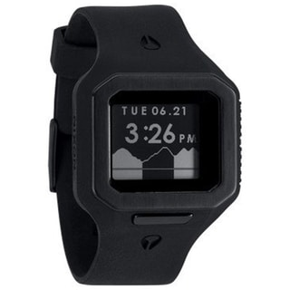Nixon Men's Supertide A316001 Black Polyurethane Quartz Watch with Digital Dial