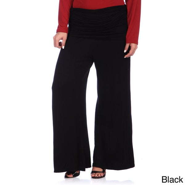 24/7 Comfort Apparel Women's Plus Size Wide-leg Palazzo Pants. Opens flyout.