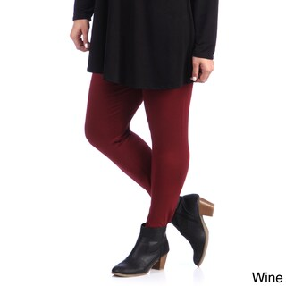 24/7 Comfort Apparel Plus Size Women's Leggings (More options available)