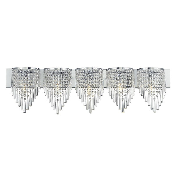 Z-Lite 5-light Crystal Vanity Light