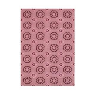 Handmade Alliyah Cashmere Rose New Zealand Blend Wool Rug (5' x 8')