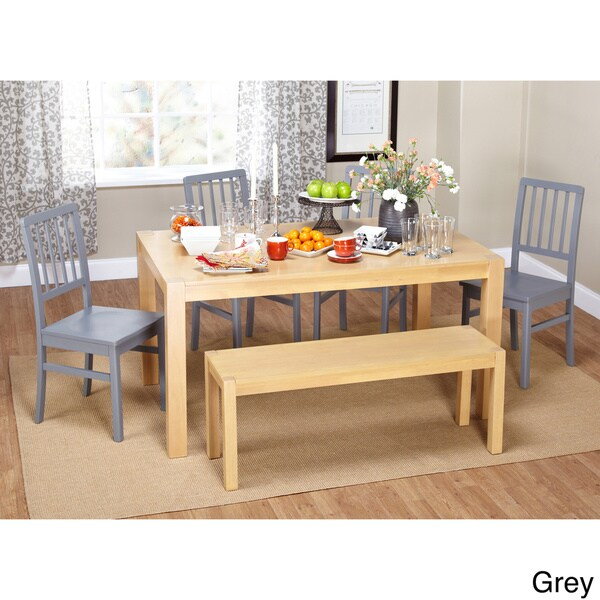 Simple Living Solano 6 Piece Dining Set With Dining Bench