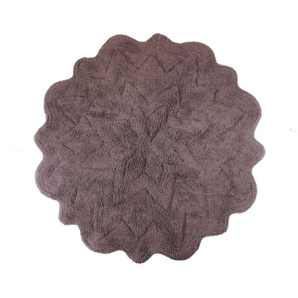 Sherry Kline Tufted Petals Cotton Round Bath Rug Free