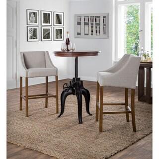 Niketa Adjustable 30-inch Reclaimed Wood Crank Table by Kosas Home