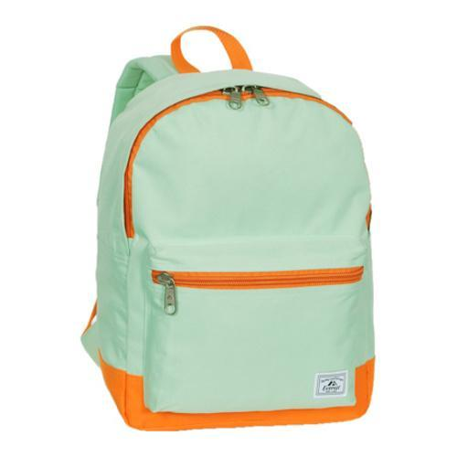 Everest Two-Tone Classic Backpack Jade/Orange
