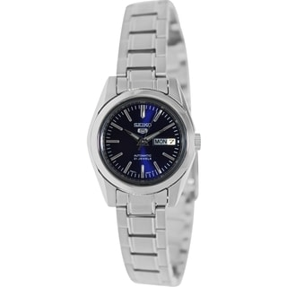 Seiko Women's SYMK15K 5 Automatic Silver Stainless Steel Automatic Watch with Blue Dial
