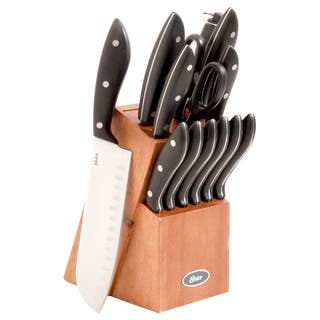 Oster Huxford 14-piece Stainless Steel Knife Block Set https://ak1.ostkcdn.com/images/products/8613471/P15880719.jpg?impolicy=medium
