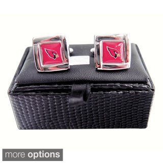 NFL Square Cufflinks with Square Shape Logo Design Gift Box Set