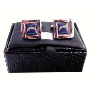 NFL Square Cufflinks with Square Shape Logo Design Gift Box Set (4 options available)