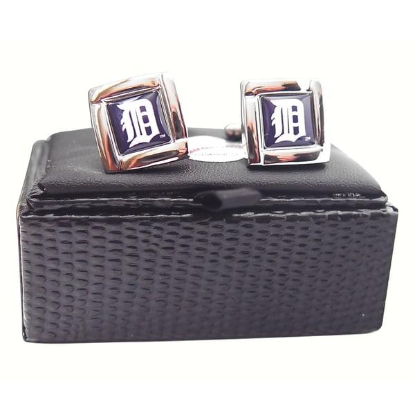 MLB Square Cufflinks with Square Shape Logo Design Gift Box Set