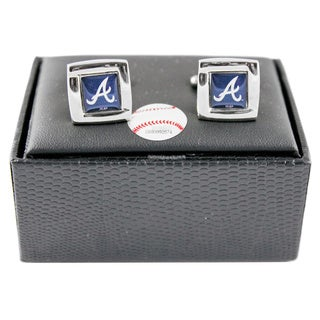 MLB Square Cufflinks with Square Shape Logo Design Gift Box Set (More options available)