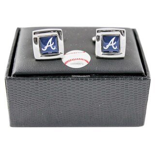 MLB Square Cufflinks with Square Shape Logo Design Gift Box Set
