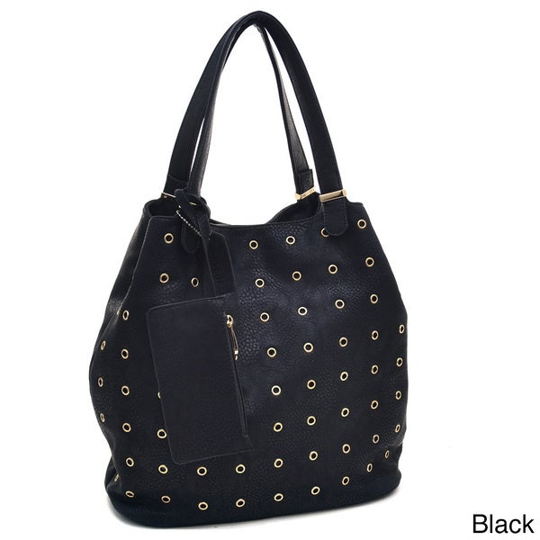 1dfd6f5615cb Shop Dasein Tall Punchout Shoulder Bag - On Sale - Free Shipping ...
