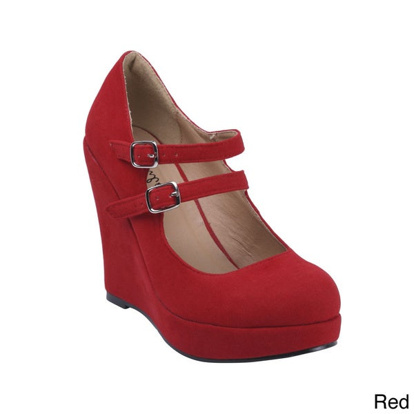 b77f3184cd22 Shop Bonnibel Women s  Dolly-4  Mary Jane Wedge Pumps - Free ...