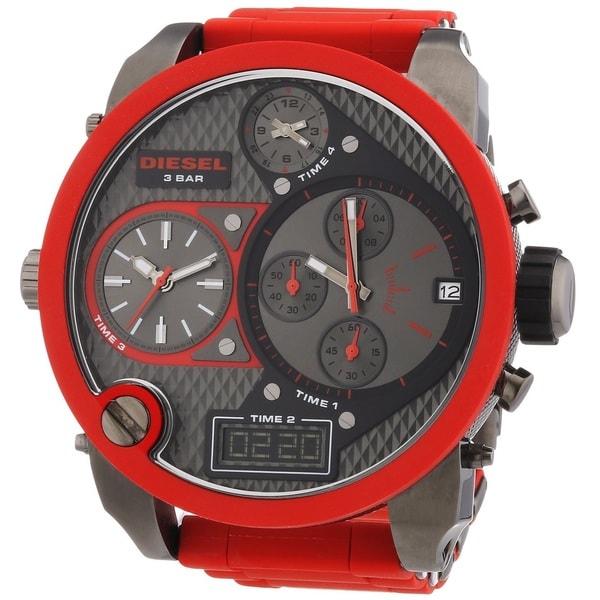 913b322d622 Shop Diesel Men s DZ7279 Mr. Daddy Round Red Bracelet Watch - Free ...