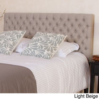 Jezebel Adjustable Full/ Queen Button Tufted Headboard by Christopher Knight Home (Light Beige Fabric)