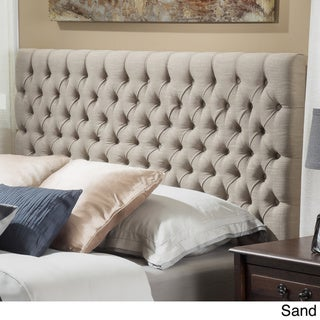 Jezebel Adjustable Full/ Queen Button Tufted Headboard by Christopher Knight Home (Sand Fabric)