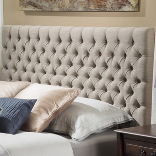 Link to Jezebel Adjustable Full/Queen Tufted Headboard by Christopher Knight Home Similar Items in Bedroom Furniture