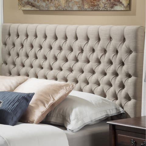 Jezebel Adjustable Full Queen Button Tufted Headboard By Christopher Knight Home