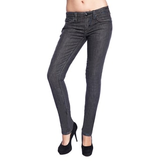 Stitch's Women's Slim Fit Grey Wash Skinny Jeans
