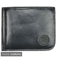 YAALI Men's Leather Fold-over Wallet