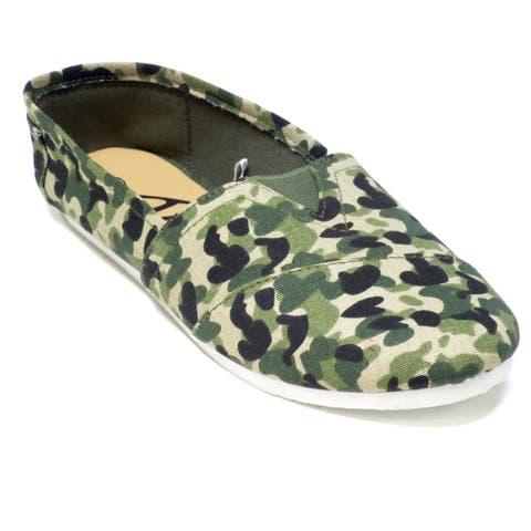 Blue Women's 'Timmy' Camo Fabric Casual Shoes
