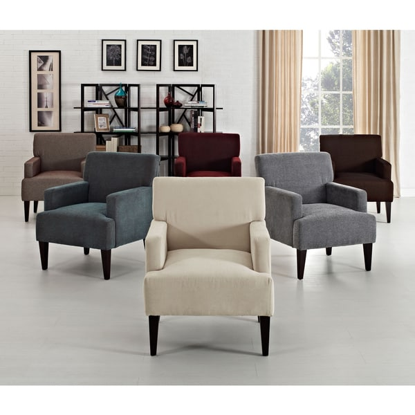 Tux solid accent chair free shipping today overstock for Living room furniture 0 finance