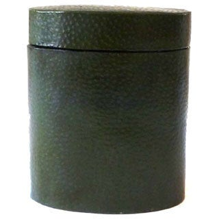 5.25-inch Handmade Green Leather Jewelry Box