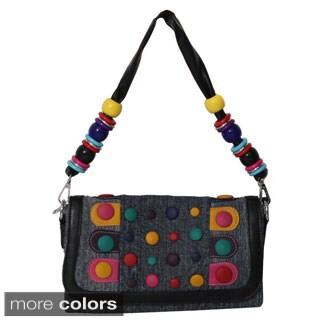 Hearty Trendy Washed Denim Clutch Handbag