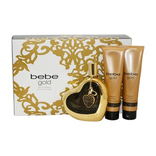 Bebe Gold Women's 3-piece Gift Set