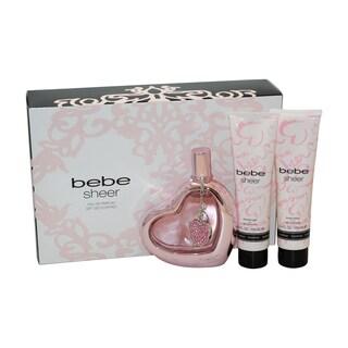 Bebe Sheer Women's 3-piece Gift Set