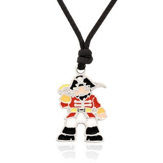 Molly and Emma Red Enamel Pirate Necklace