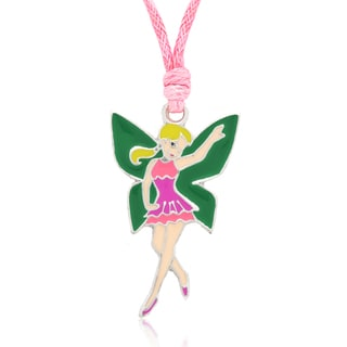 Molly and Emma Purple and Green Enamel Fairy Necklace