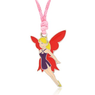 Molly and Emma Purple and Red Enamel Fairy Necklace