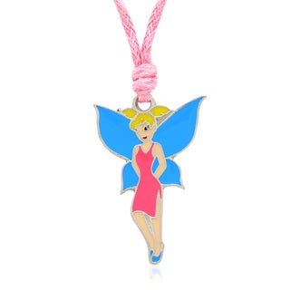 Molly and Emma Pink and Blue Enamel Fairy Necklace