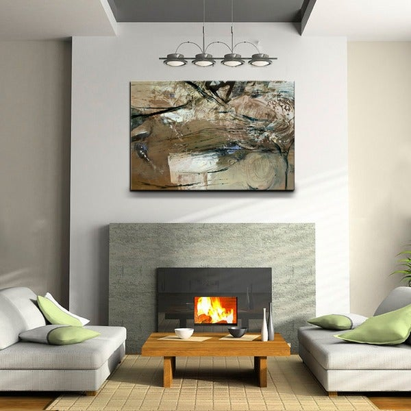 Oversized Wall Art Part - 21: Ready2HangArt U0026#x27;Smash XVIIIu0026#x27; Oversized Canvas Wall Art ...