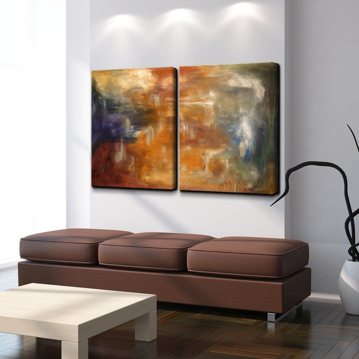Ready2hangart Smash Xvii Oversized Canvas 2 Piece Wall Art Set