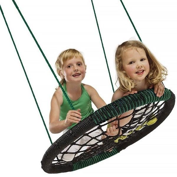 """Swing-N-Slide Monster Web Swing, 34"""" long x 4.5"""" wide x 42"""" high, Black - 34"""" L x 4.5"""" W x 42"""" H. Opens flyout."""