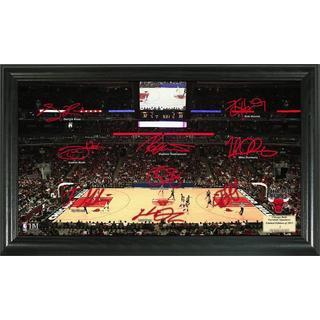 Chicago Bulls Signature Court Framed Photo
