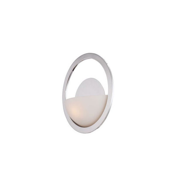 Quoizel Uptown Columbus 1-light Imperial Silver Circle Wall Sconce