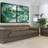 Ready2HangArt 'Smash X' 2-piece Oversized Canvas Wall Art