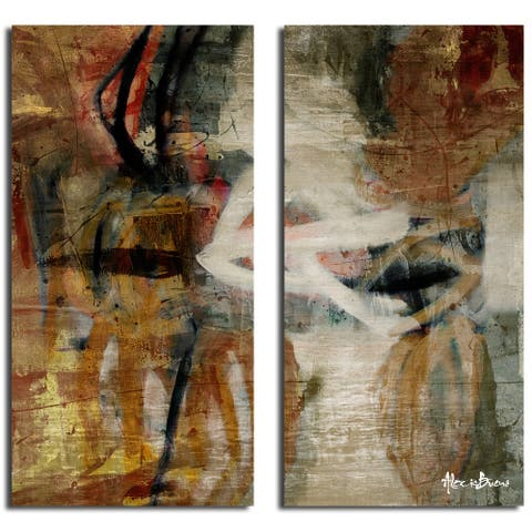 Ready2HangArt 'Smash I' 2-piece Oversized Canvas Wall Art