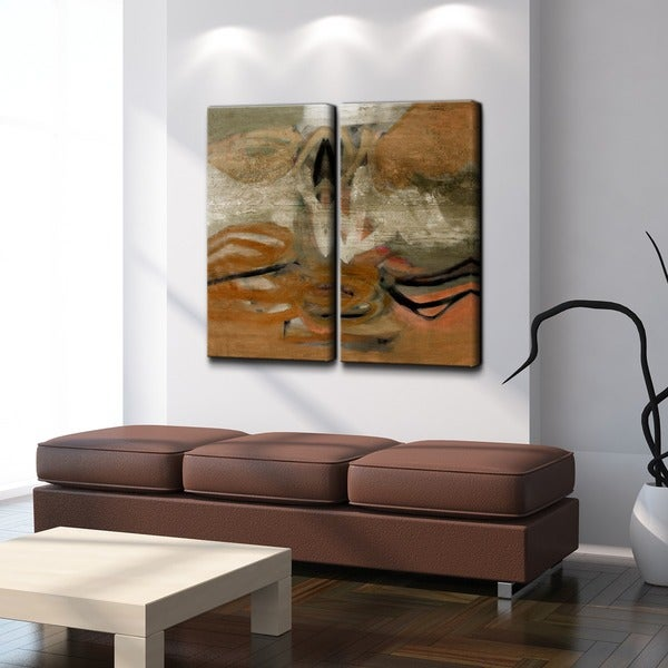 2 Piece Canvas Wall Art ready2hangart 'smash ii' 2-piece oversized canvas wall art - free
