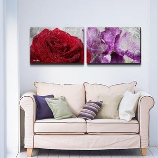 Ready2HangArt 'Roses are Red, Violets are Blue II' 2-piece Canvas Wall Art