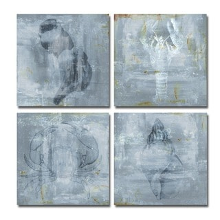 Ready2HangArt 'Nautical' 4-piece Canvas Wall Art