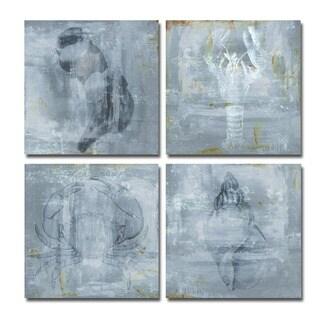 Ready2HangArt 'Nautical' 4-piece Canvas Wall Art - Blue