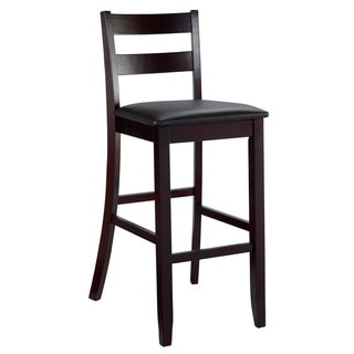 Porch & Den Prospect Hill McGrath Espresso Finish Bar Stool
